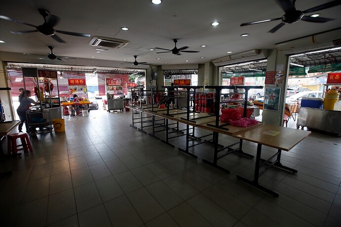 All chair is keep, customers not allowed to sit in the hawker food centre