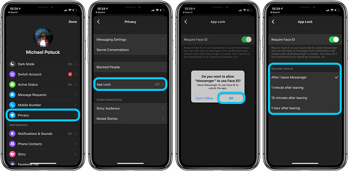 how-to-use-face-id-touch-id-iphone-facebook-messenger