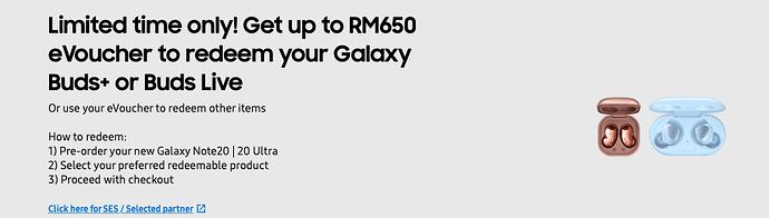 Samsung pre-order page