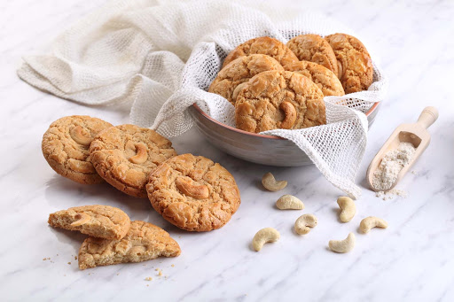 Nutty Blossom Cookies