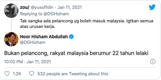 yusoffdin tweet