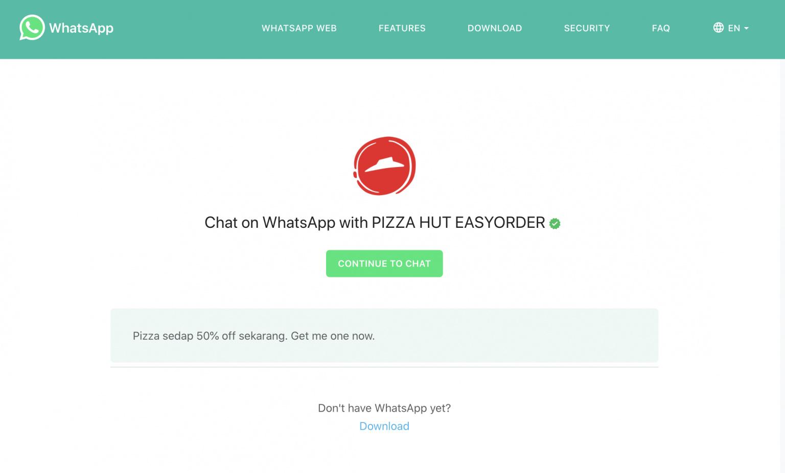 whatsapp-pizza-hut