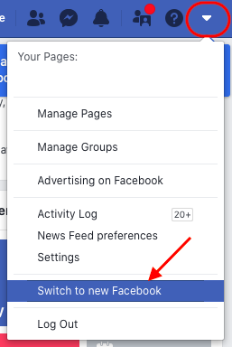 Switch to new Facebook interface